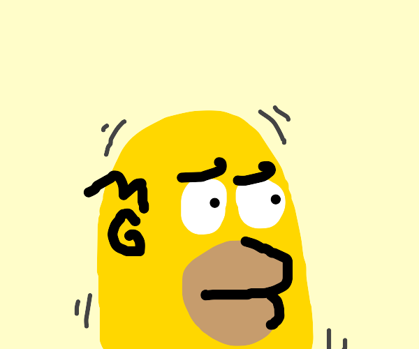 Homer's head is vibrating
