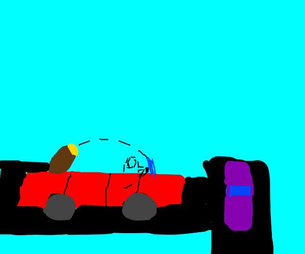 TRANSPARENT PUPPY DRIVE CAR