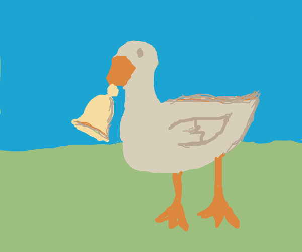 A horrible goose