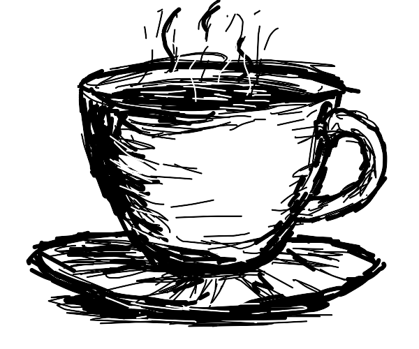 Sketched cup of tea