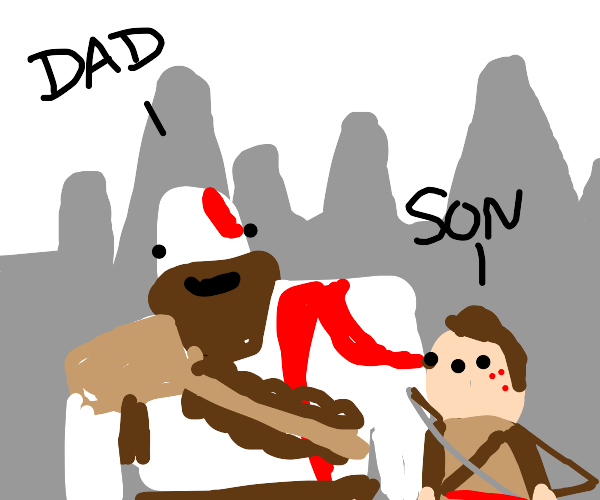 Kratos is a caring father