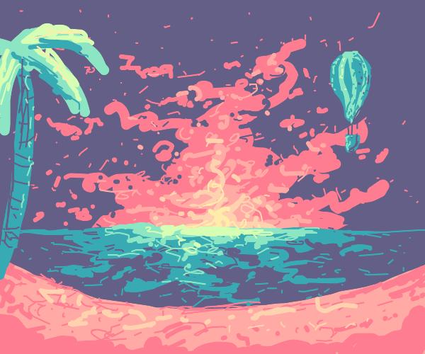 Hot air balloon ride over hawaii