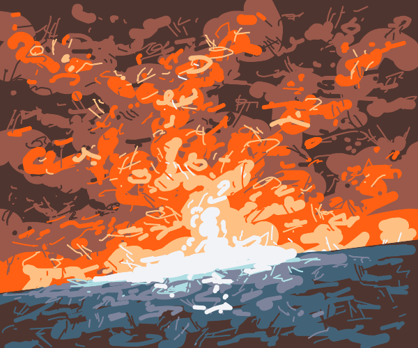 Fireball on the horizon
