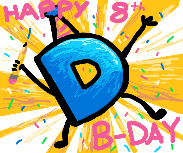 Happy 8th birthday Drawception :DDD