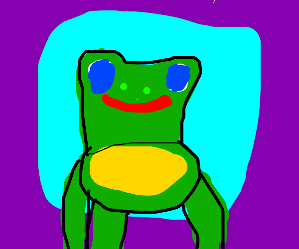 Froggy wants chair