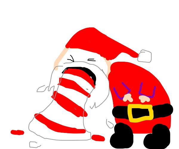 Santa vomit
