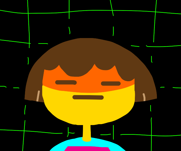 Frisk Sees Someting he doesn't like