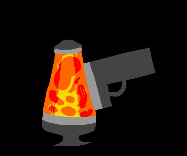 Lava Lamp with a gun