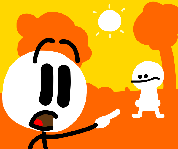 Henry Stickman pointing out someone