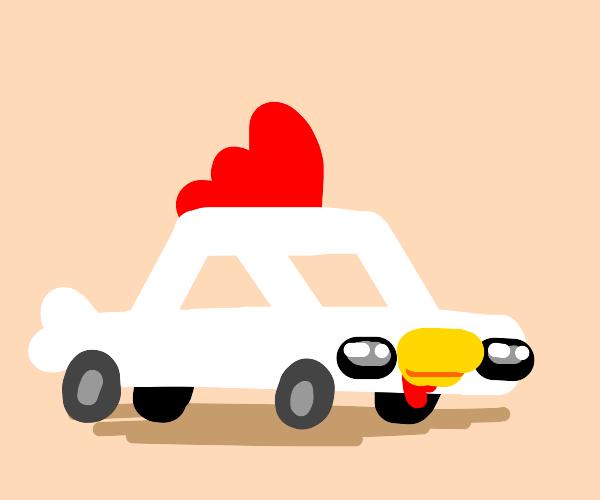 A chicken car