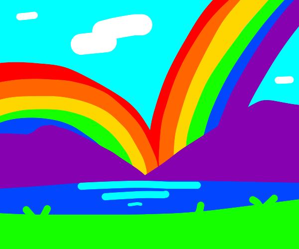 yeah, yeah double rainbow