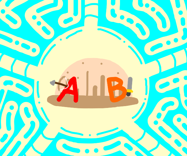 Letters A and B as RPG characters