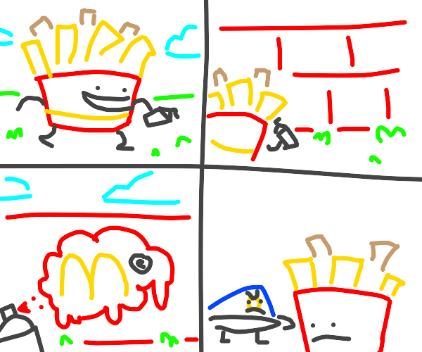 Comic about fries and graffiti