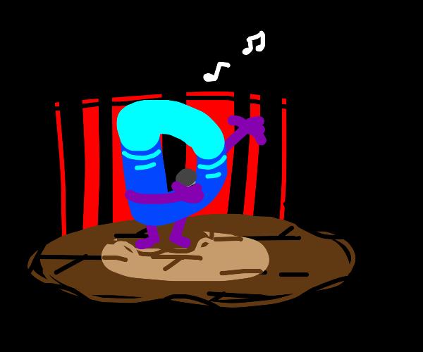 Drawception logo singing