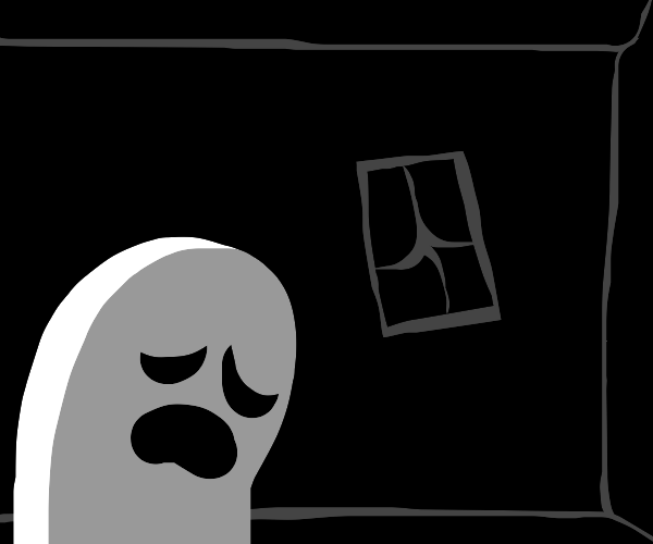 Sad lonely ghost