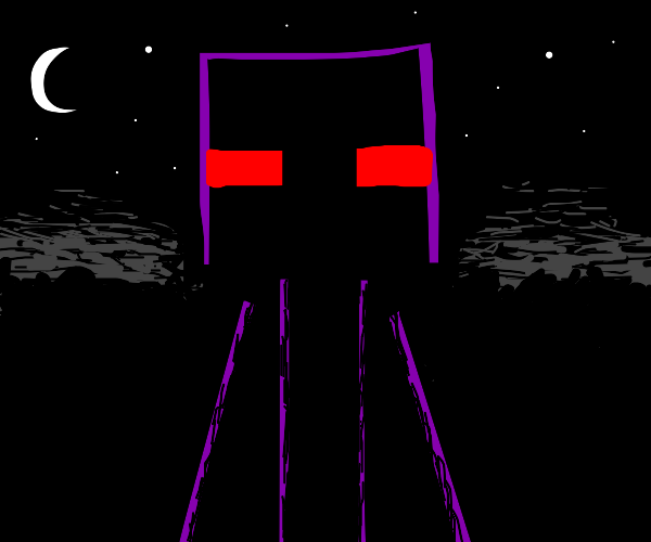 Enderman with red eyes