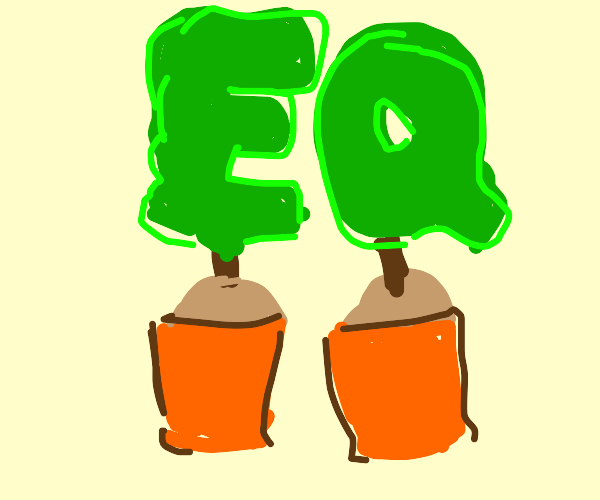 Plant forms the letters EQ