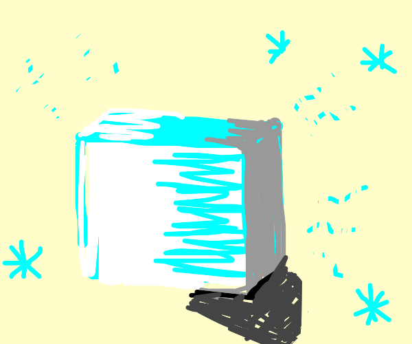 Stylish ice cube