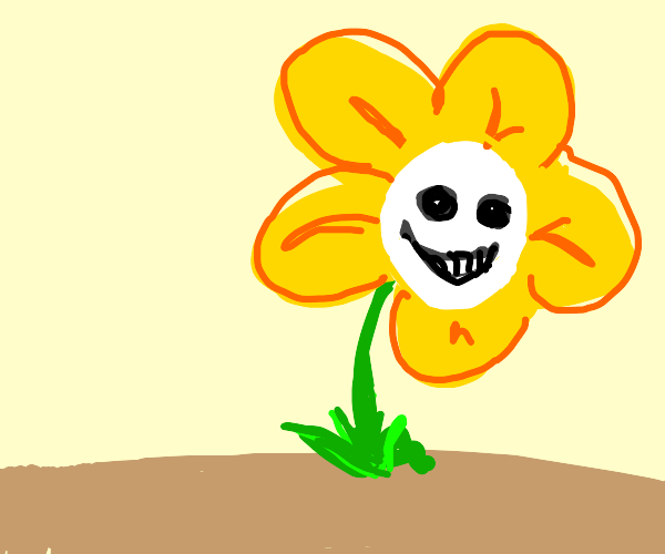 a weird flower that smiles back