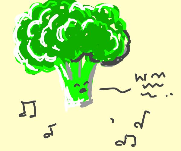 singing broccoli