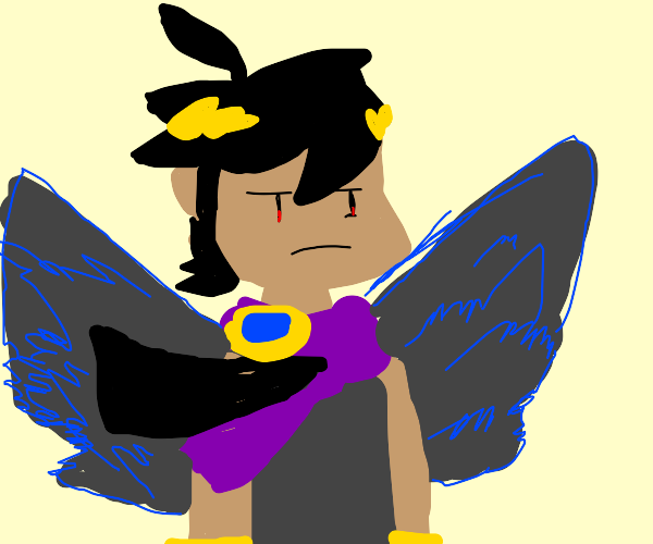 Black hair guy as an angel