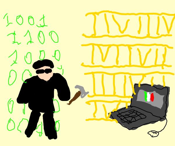 Architect of the Matrix finds a Roman Laptop