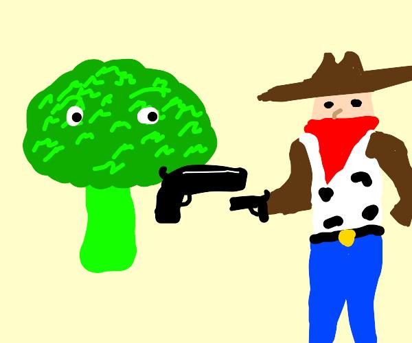 Broccoli shoots thug