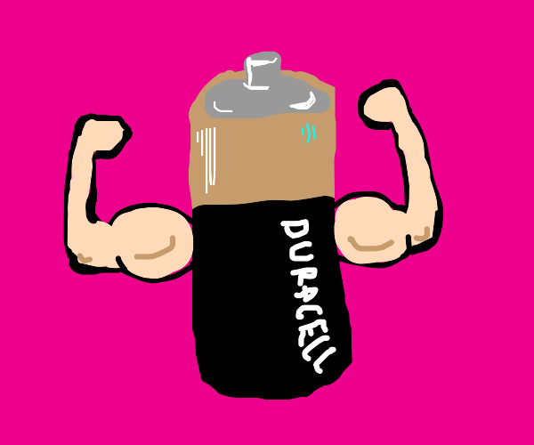 Duracell with arms