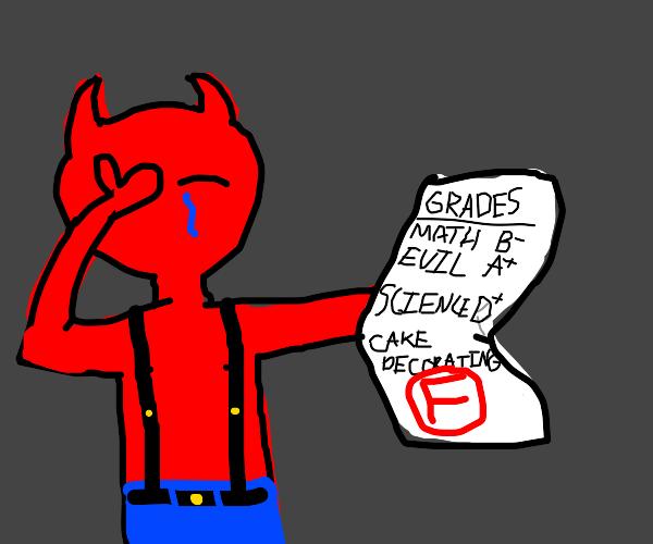 Satan gets a failing grade in cake cooking
