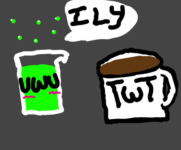 UwU sus liquid says ily to TwT coffee