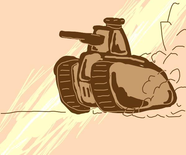 A brown tank