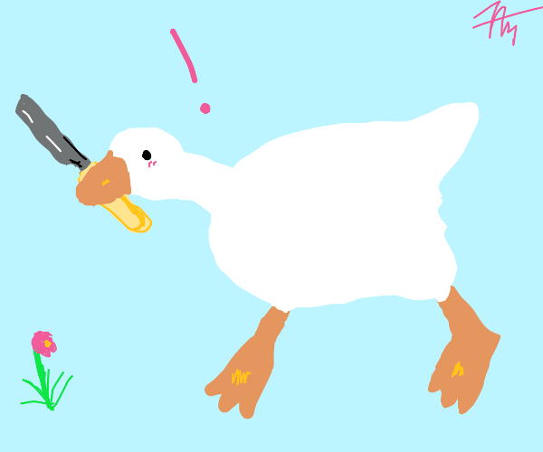 Stand back, that goose has a knife