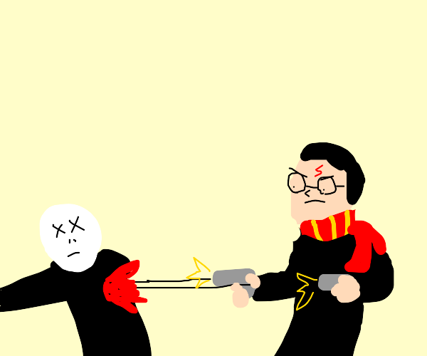Harry Potter has learned to dual wield guns.