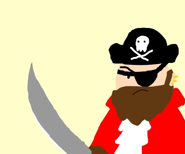 menacing pirate