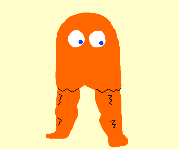 Clyde the Ghost with Masculine Legs