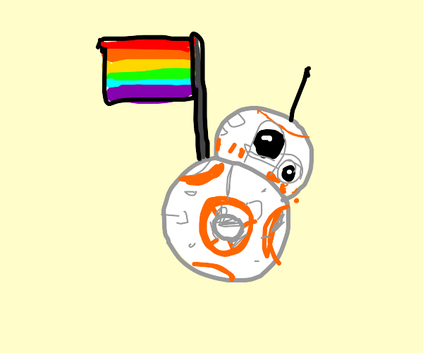 BB-8 with a pride flag!