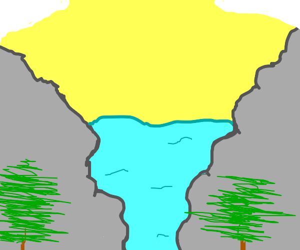 A very colorful landscape