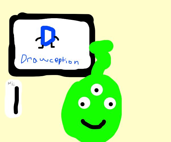 an alien got drawception on the wii
