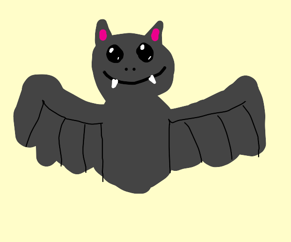Kawaii bat with no feet