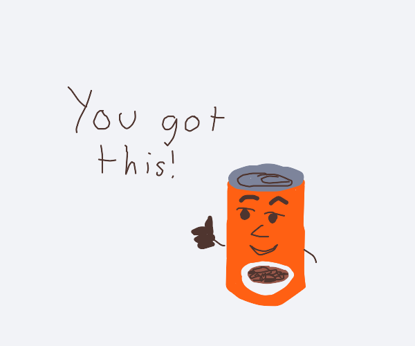 Supportive can of beans