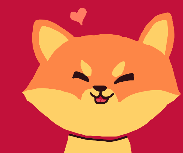 Shiba inu loves you