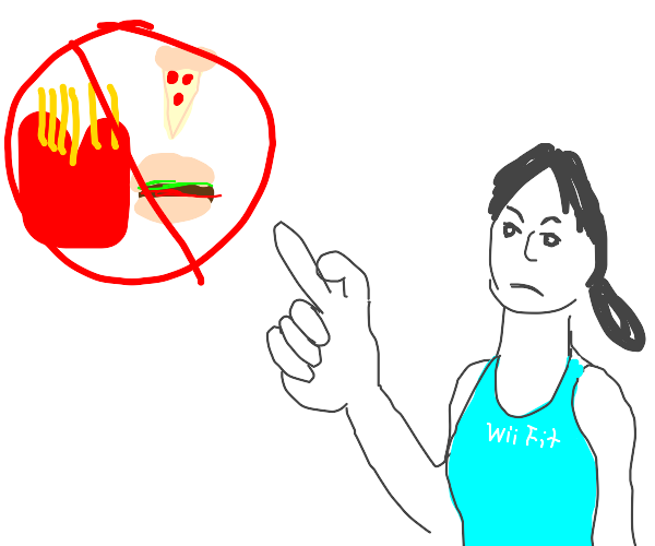 Wii Fit trainer says no to fast food