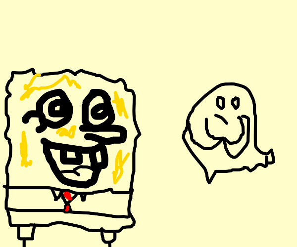 Spongebob and a ghost