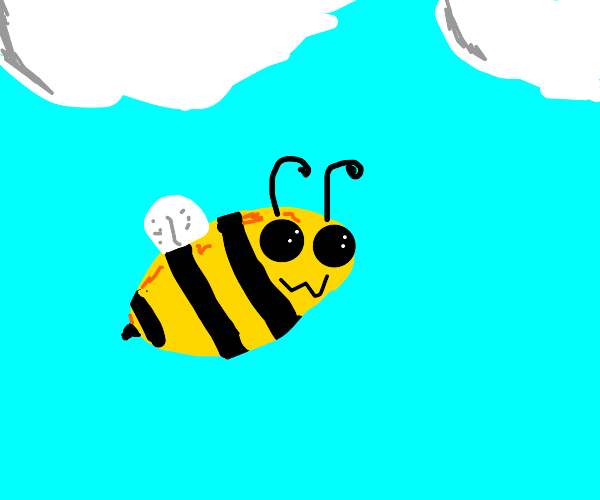 bee in the sky