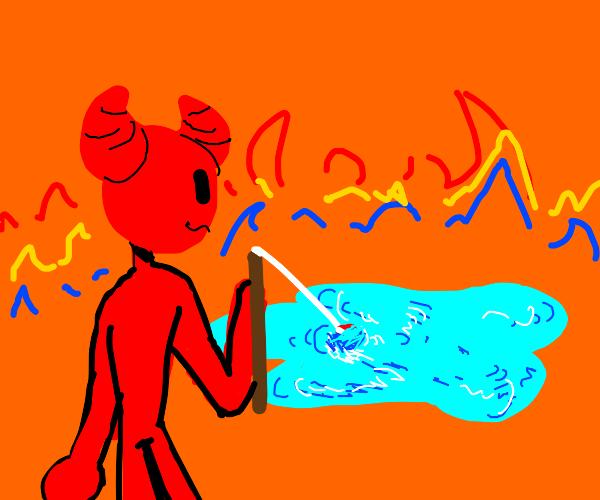the devil fishing