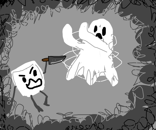 Marshmallow stab ghost