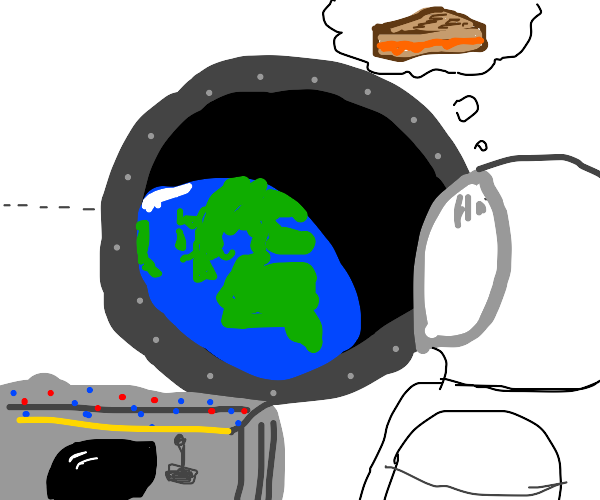 Astronaut misses grilled cheese