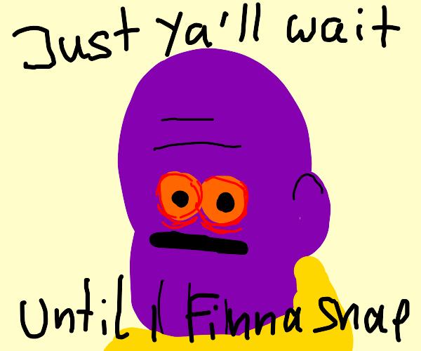 Thanos accidentally snaps