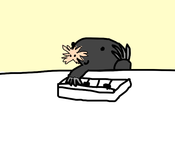 Star nosed Mole playing the piano