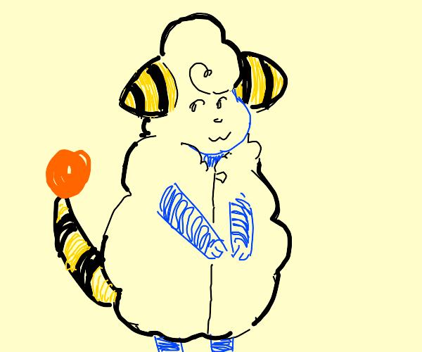 Mareep (pokemon) as a human
